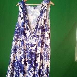 Plus Size Daisy Fuentes floral print maxi dress 3x